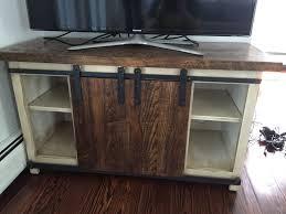 custom made barn door a cabinet