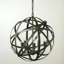 large orb chandelier large orb chandelier metal strap aged black and similar large metal orb chandelier