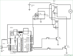 arduino dc motor sd and direction control using relayosfet state relay circuit schematic on dc motor control circuit schematic