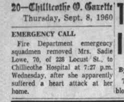 LOWE grandma sadie heart attack - Newspapers.com