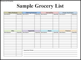 Groceries List Template Grocery Shopping List Template Cute Printable Grocery Shopping List