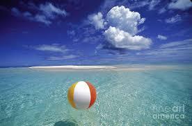 beach ball on beach. Afternoon Photograph - A Beach Ball By Ron Dahlquist Printscapes On N