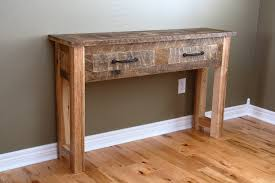 rustic sofa table ideas. Narrow Rustic Distressed Wood Console Table Made From Reclaimed With  Drawer And Black Metal Handle On Hardwood Floor Tiles Rustic Sofa Table Ideas R