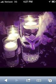 Masquerade Mask Table Decorations Cheyenne loves floating candles so this could certainly be her 48