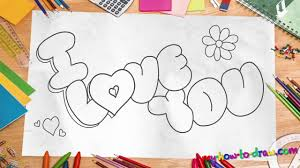 how to draw i love you in bubble letters how to draw i love you in