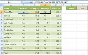 Salary Chart In Excel Format Excel If And Or Functions Explained My Online Training Hub
