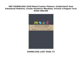 Pdf Download 2020 Mood Tracker Planner Understand Your