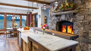Lake House Kitchen Mountain Architects Hendricks Architecture Idaho Lake House In