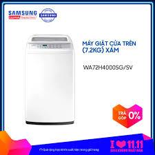 Máy giặt cửa trên Lồng giặt kim cương Samsung WA72H4000SG/SV (7.2kg) - Hàng  phân phối chính hãng giá rẻ 3.991.000₫