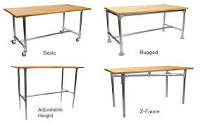 Industrial table kits. Just pick the frame and add your own top- like old