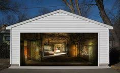 abandoned coridor 7x8 feet 3d effect garage door sticker cover decor garage doors garage