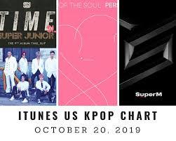 Itunes Us Itunes Kpop Chart October 20th 2019 2019 10 20