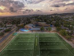 rugby field layed at de hoop full synthetic grass installation soccer rugby