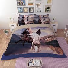 3d bedding set magical especially horse print duvet