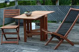 folding wood patio table