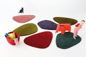 nani marquina green oddly shaped wool rug