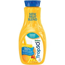 tropicana trop50 orange mango orange juice drink
