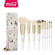msq makeup brushes set powder blusher foundation brushes set eye make up brush soft synthetic hair with high end resin case c18111401 uk 2019 from shen8416