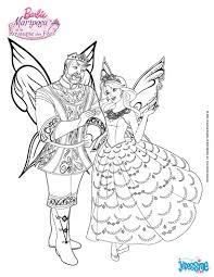 Colorie Barbie Mariposa Et Le Roi Du Royaume Des F Es Un Joli