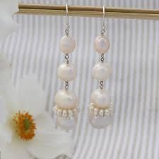bridal vail chandelier earrings pearl chandelier earrings