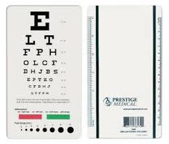Details About Medical 3909 Snellen Pocket Eye Chart Model 3909 Free Shipping