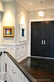 how to choose paint sheen finish foyer front door painted black gray