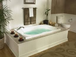 Fascinating Jetted Tub for Bathroom Remodel: Jacuzzi Bathtub And Beadboard  Tub Surround With Votive Candle Also Jetted Tub And Towel Bar With  Wainscoting ...