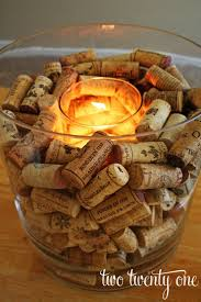 Need a clever way to use the corks from all of that amazing Ohio wine  you've been drinking? Here's a great DIY Wine Cork Candle Holder.