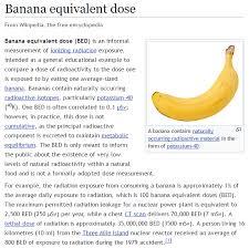 Banana Equivalent Dose Chart Imgur The Magic Of The Internet