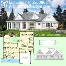 plan 25608ge split bedroom country house plan modern farmhouse