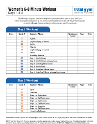 Total Gym Weight Resistance Chart Download Total Gym Workouts And Exercises Total Gym