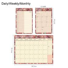 planners weekly monthly us 1 89 cute flower daily weekly monthly planner school kawaii bullet journal agenda travel notebook office accessory stationery store in notebooks