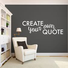 create your own quote personalized wall quote sticker wall decal custom vinyl art stickers for clock message  on personalized vinyl wall art message with create your own quote wall vinyl walls and create