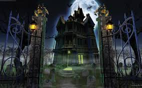 Haunted House Halloween Background ...