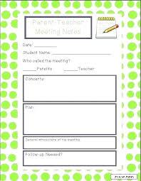 Parent Teacher Conference Form Template Parent Teacher Conference Template Documentation Form Free