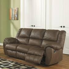 Ashley Furniture Quarterback Reclining Sofa in Canyon