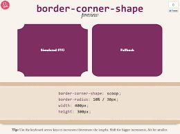 corner shape preview