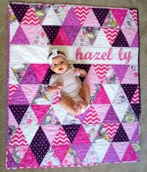 Order a custom triangle quilt like this with your baby's name ... & Order a custom triangle quilt like this with your baby's name! Check out  this item Adamdwight.com