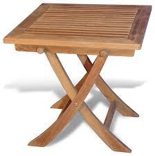 teak side square folding table