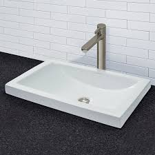 breanna classically redefined ceramic rectangular vessel bathroom sink with overflow