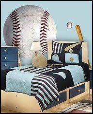 Tons of baseball themed items for bedroom Decorating Tips: These baseball  themed wall graphics will