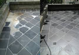 the specialty equipment helps clean and rinse tile and grout thoroughly leaving the floor looking like new ready for final sealing