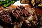 beef tenderloin with roasted shallots  bacon and port