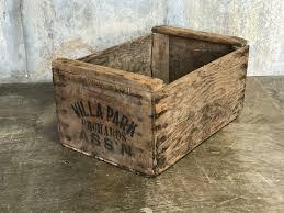 Vintage Villa Park ORANGE Crate
