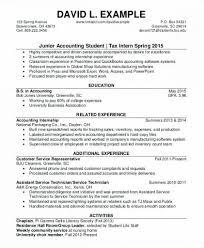 Resume Samples For Internships Tax Internship Resume Sample Intern Samples Associate Ideal Tax