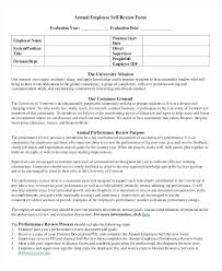 Annual Employee Self Review Form Template Samples – Pitikih
