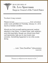 free doctor note generator doctors excuse letter korest jovenesambientecas co