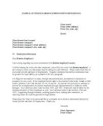 letter of recommendation for former employee template employment reference letter template employee employer