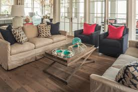 pine wood flooring in a cottage style living room
