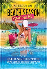 Beach Flyer Beach Season Flyer Psd Template By Elegantflyer